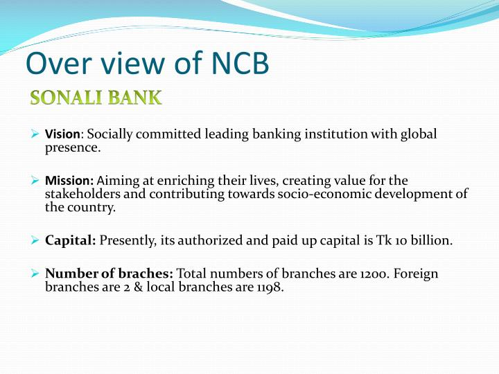 Over view of NCB