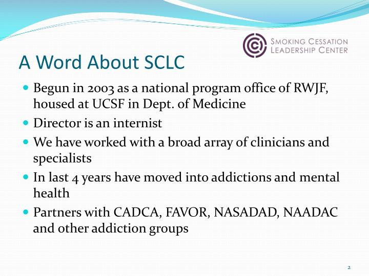 A Word About SCLC