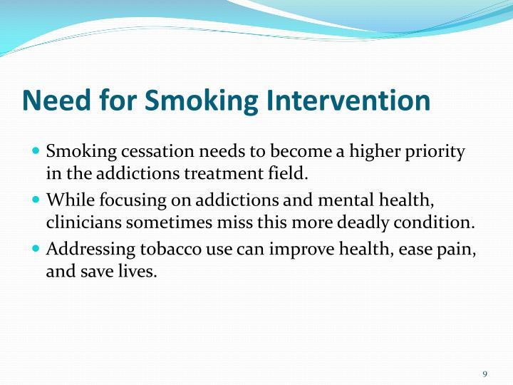 Need for Smoking Intervention