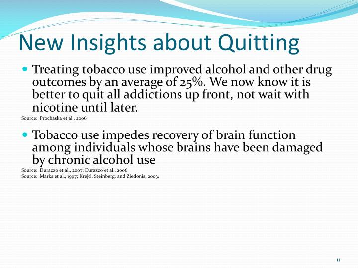 New Insights about Quitting