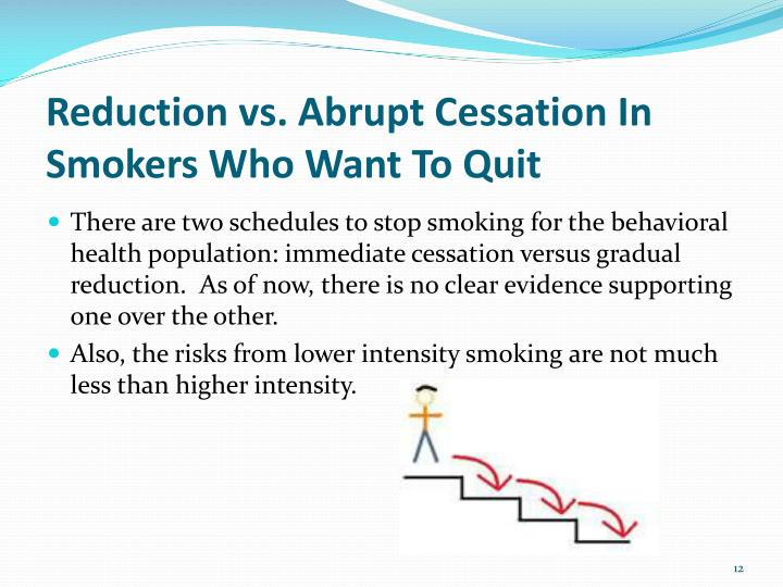 Reduction vs. Abrupt Cessation In Smokers Who Want To Quit