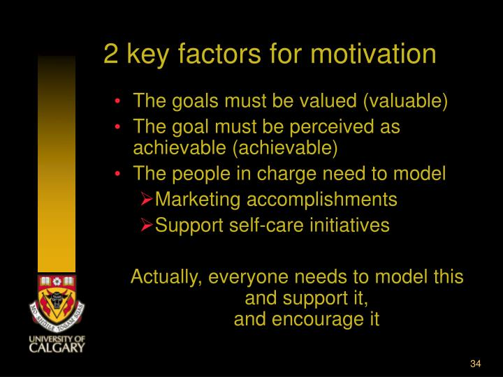 2 key factors for motivation