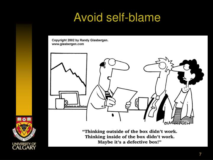 Avoid self-blame