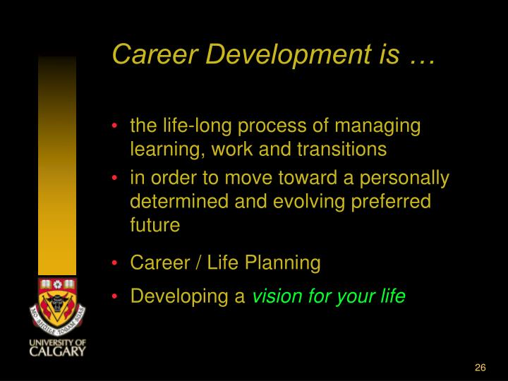 Career Development is …