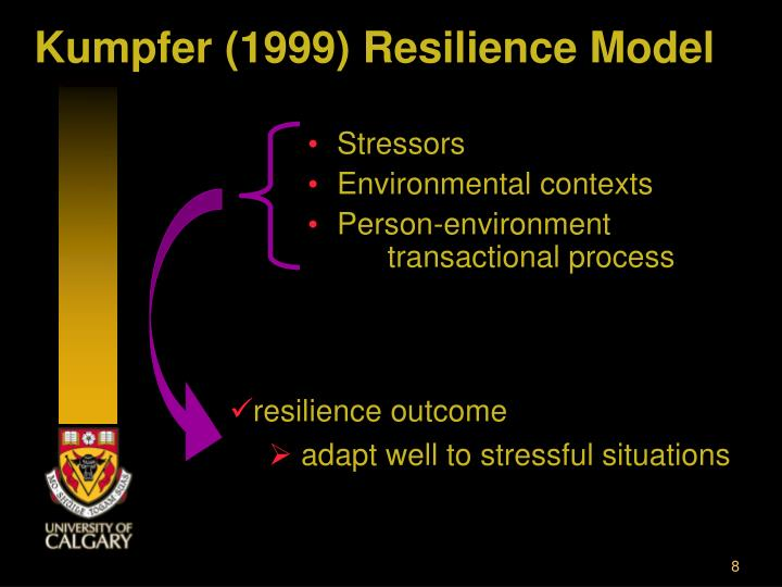 Kumpfer (1999) Resilience Model