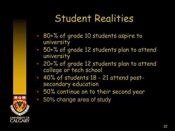 Student Realities
