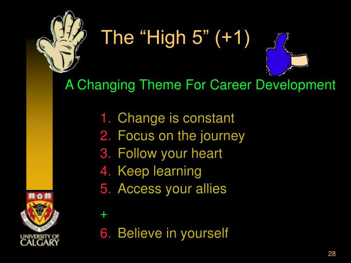 "The ""High 5"" (+1)"