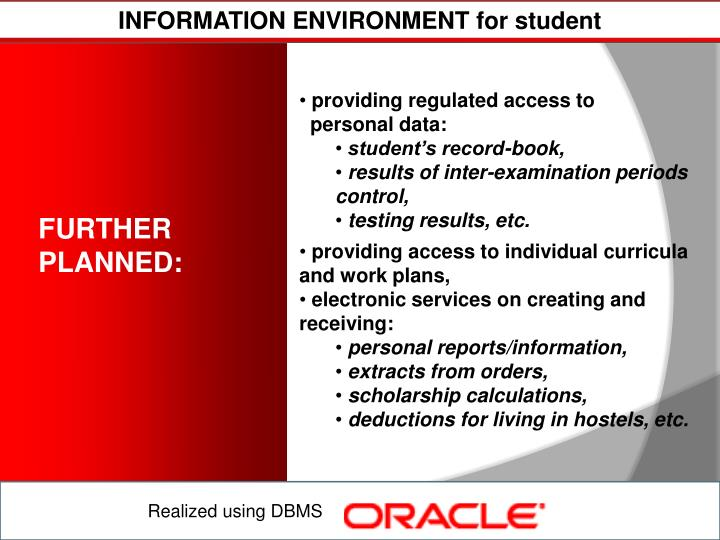 INFORMATION ENVIRONMENT for student