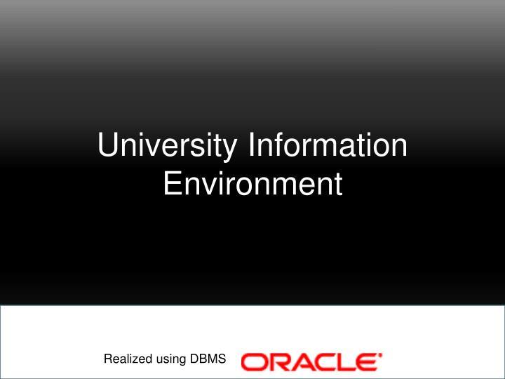 University Information Environment