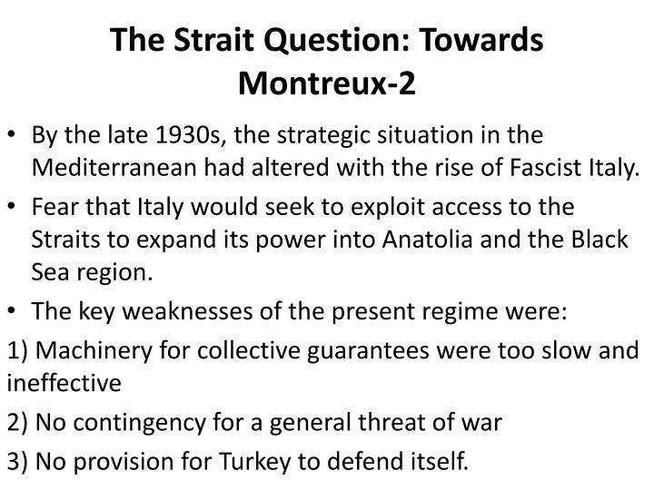 The Strait Question: Towards