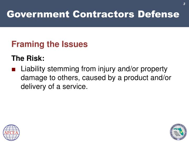 Government contractors defense2