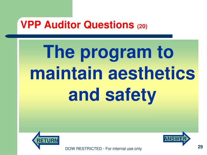 VPP Auditor Questions