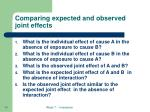 comparing expected and observed joint effects