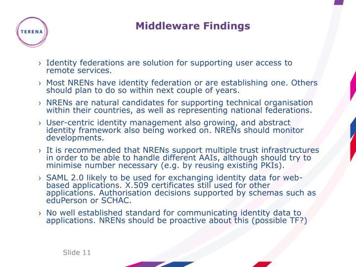 Middleware Findings