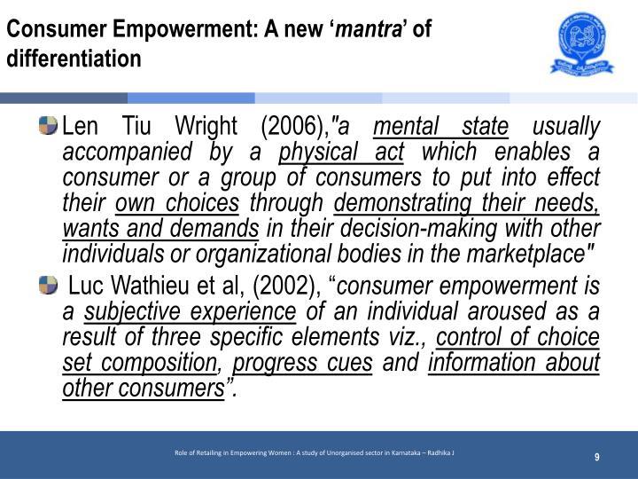 Consumer Empowerment: A new '