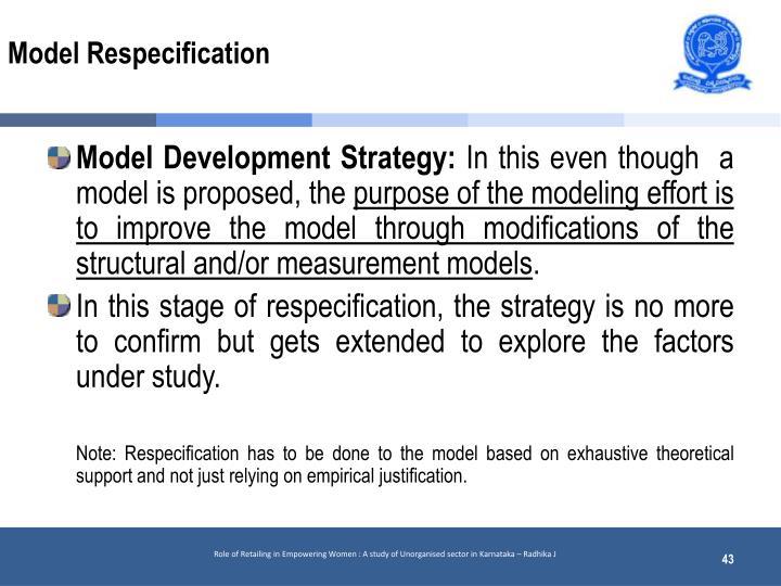 Model Respecification
