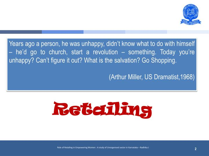 Years ago a person, he was unhappy, didn't know what to do with himself – he'd go to church, start a revolution – something. Today you're unhappy? Can't figure it out? What is the salvation? Go Shopping.