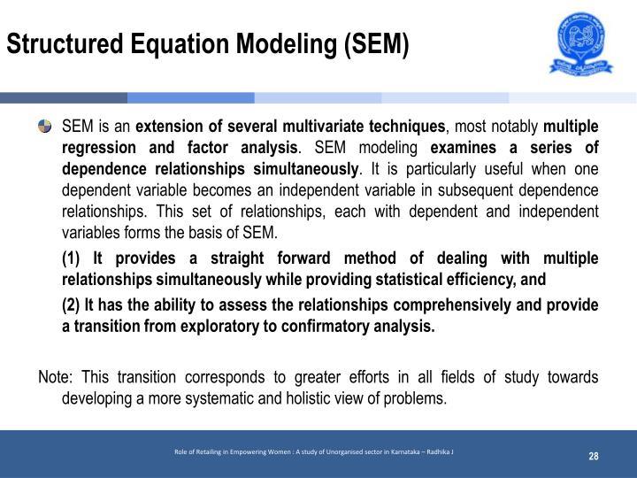 Structured Equation Modeling (SEM)