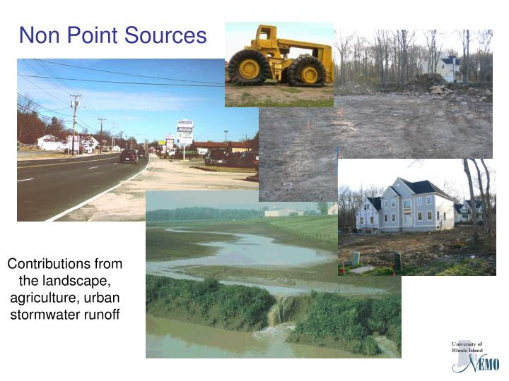 Contributions from the landscape, agriculture, urban stormwater runoff