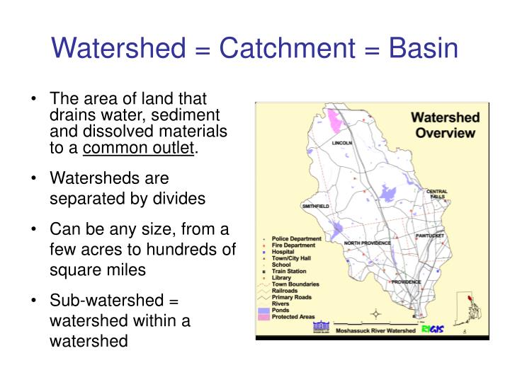 Watershed catchment basin