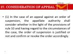 27 consideration of appeal