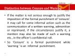 distinction between censure and warning1