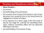 part v penalties and disciplinary authorities