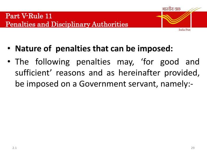 Part V-Rule 11