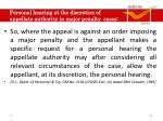 personal hearing at the discretion of appellate authority in major penalty cases1