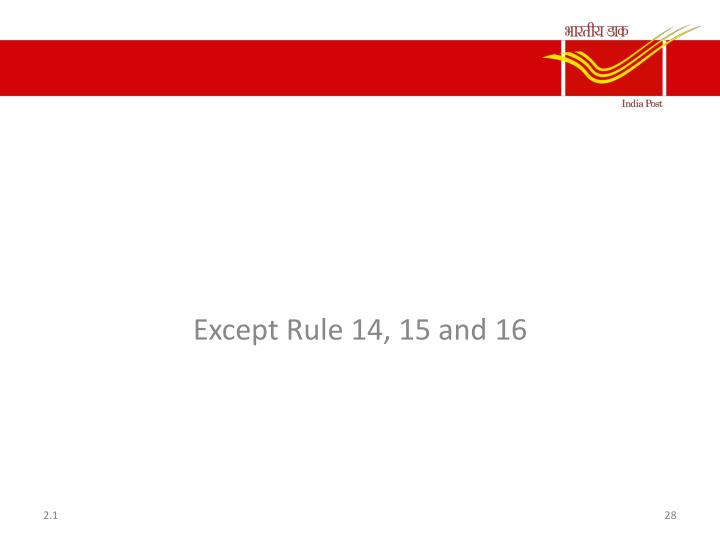 Rule 11 to 31 of CCS CCA Rule