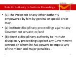 rule 13 authority to institute proceedings