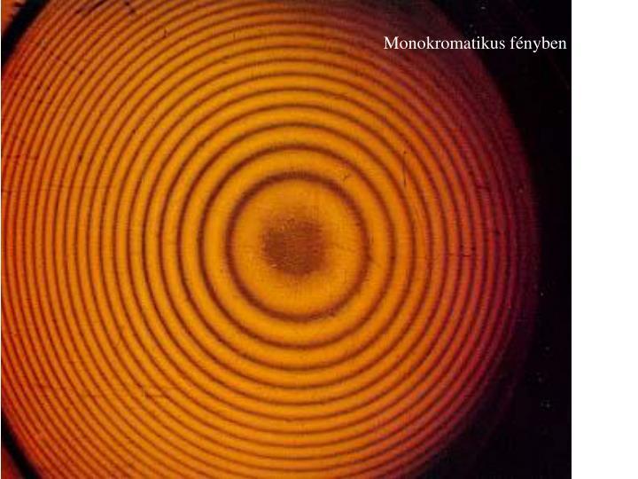 Monokromatikus fényben
