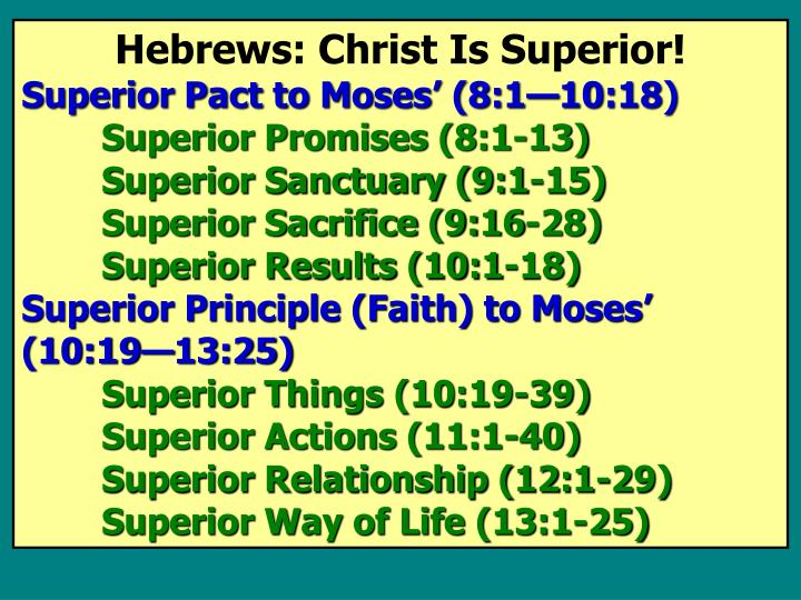 Hebrews: Christ Is Superior!