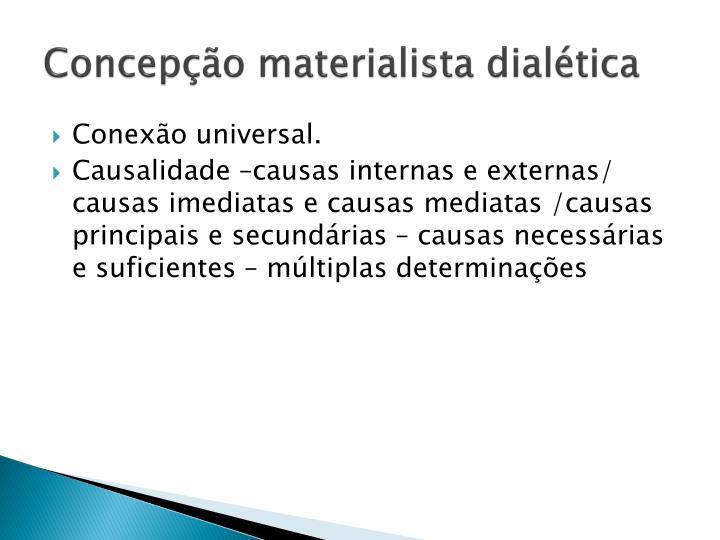 Concepção materialista dialética