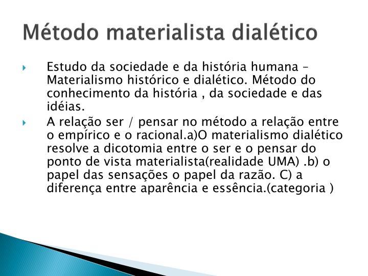 Método materialista dialético