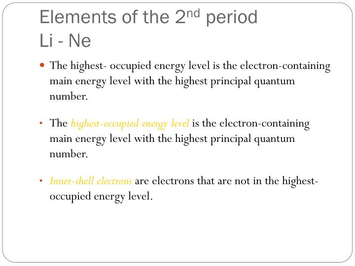 Elements of the 2