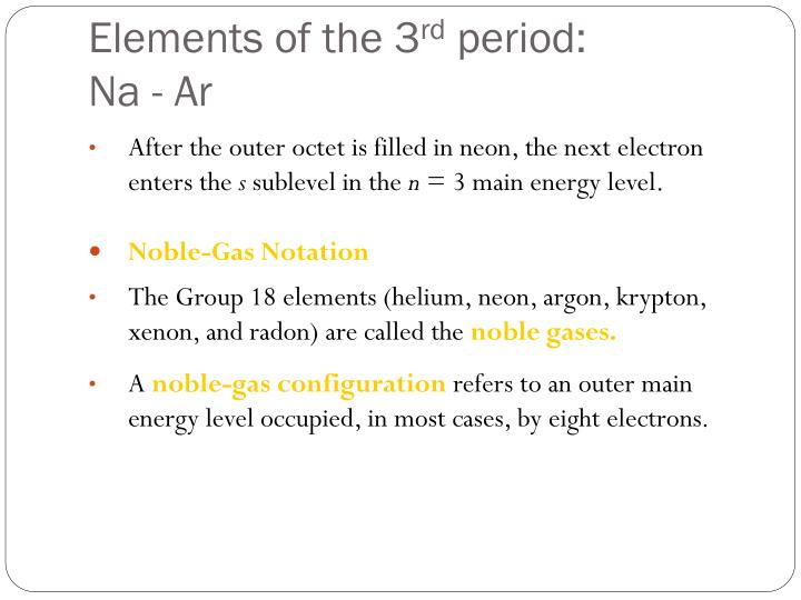 Elements of the 3