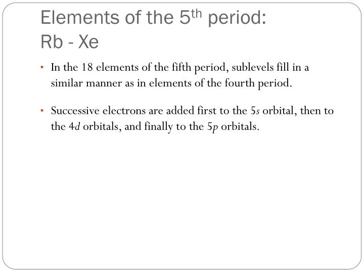 Elements of the 5