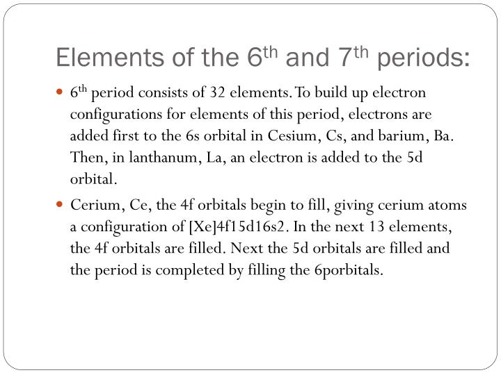 Elements of the 6