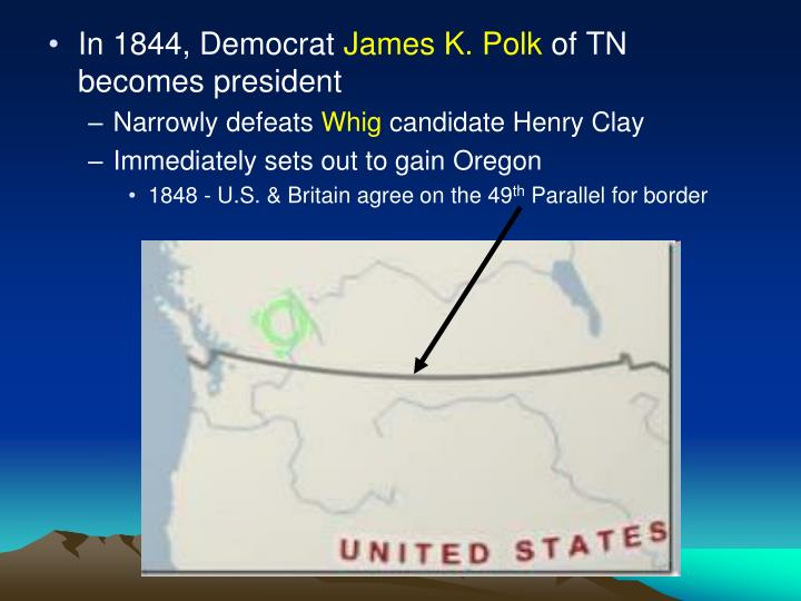 In 1844, Democrat