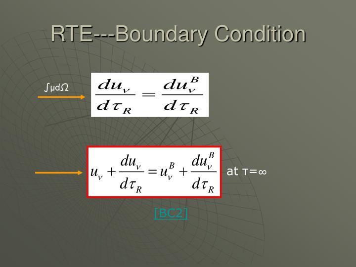 RTE---Boundary Condition