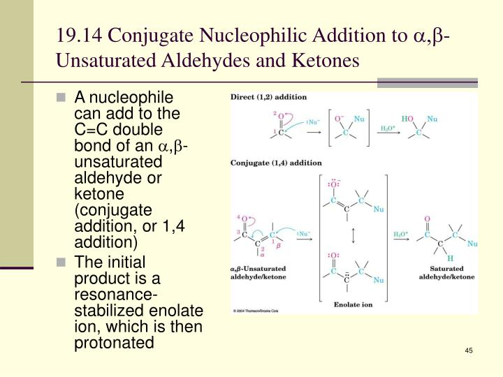19.14 Conjugate Nucleophilic Addition to