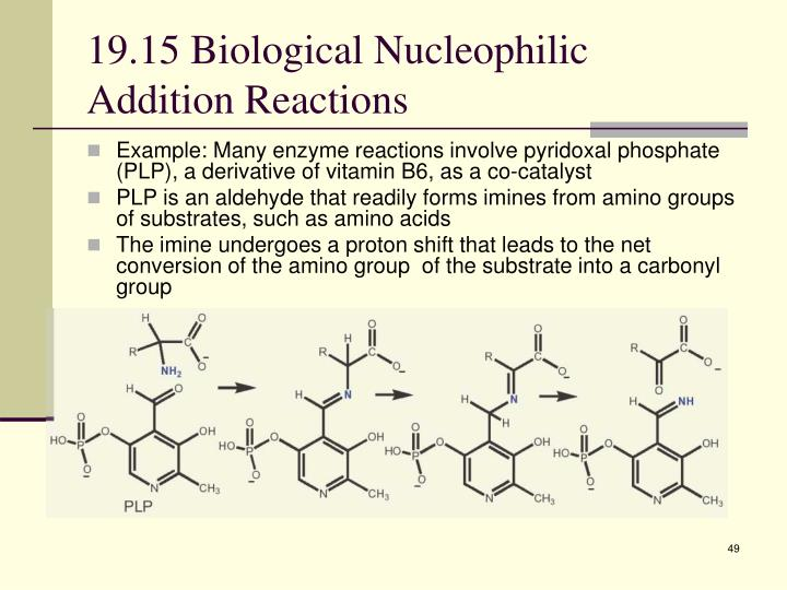19.15 Biological Nucleophilic Addition Reactions