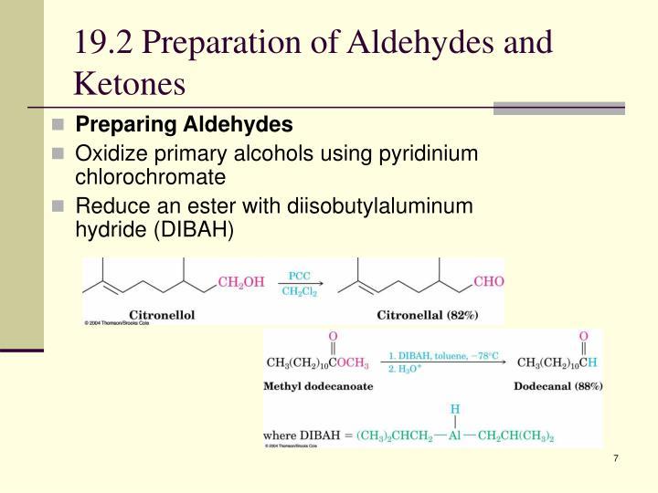 19.2 Preparation of Aldehydes and Ketones