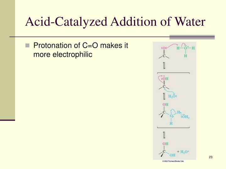 Acid-Catalyzed Addition of Water
