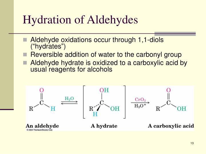 Hydration of Aldehydes