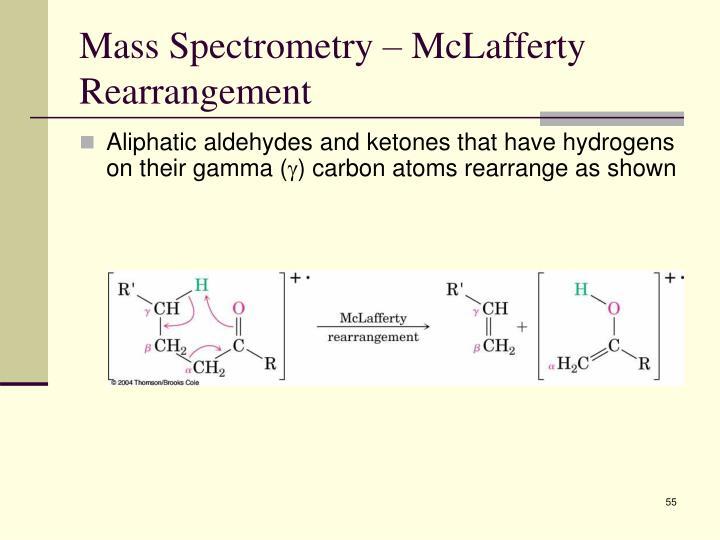 Mass Spectrometry – McLafferty Rearrangement