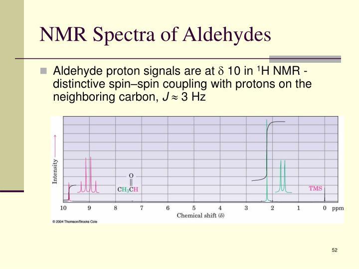 NMR Spectra of Aldehydes