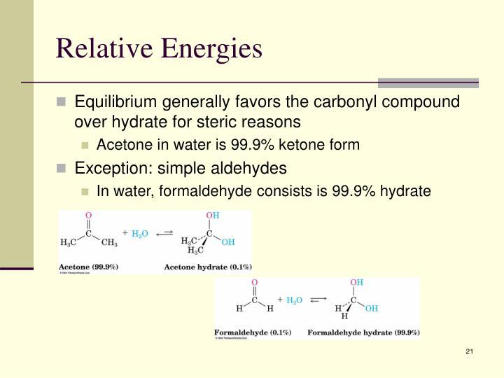 Relative Energies