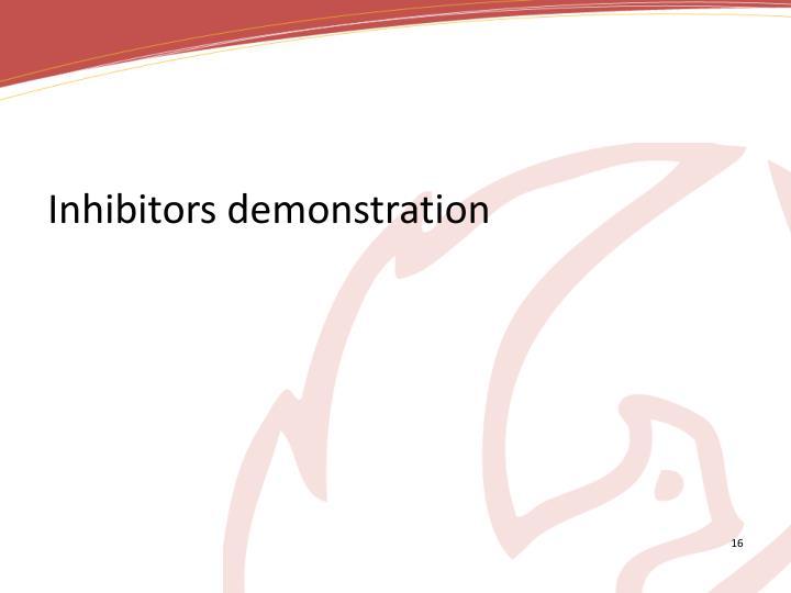 Inhibitors demonstration